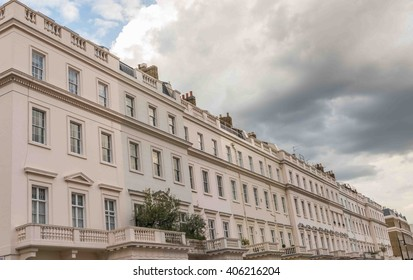 Typical upper class London Victorian townhouses - Belgravia, London