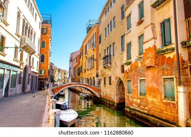 Typical Venice canal, Italy