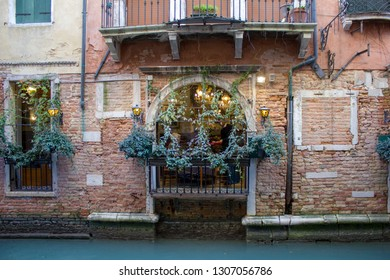 A typical Venice house along the river - Venezia, Italy 08/10/2018