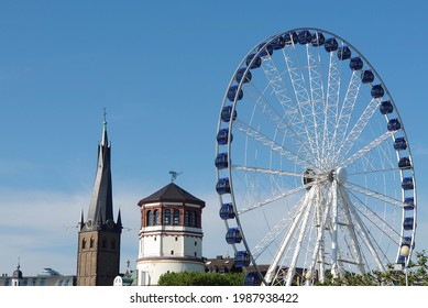 Typical view of the Altstadt of Dusseldorf in Germany