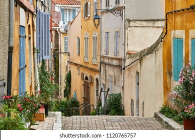 """Typical view of the old quarter """"Panier"""" of Marseille in South France"""