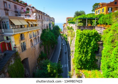 Typical views on the streets the city Sorrento, Naples, Campania, Italy.