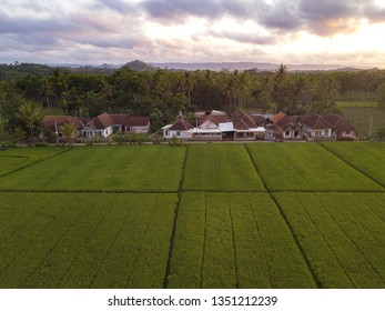 Typical village / kampung in Indonesia. Most Moslem in Indonesia do Pulang Kampung (Back to Village) to celebrate Idul Fitri / Eid Al Fitr and meet their whole family members at least 2 days.