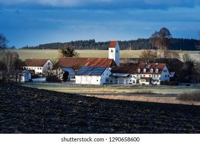 Typical village Unterlappach in Bavaria, Germany