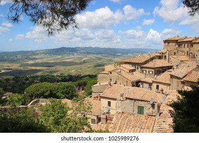 typical vintage village in tuscany landscape, Italy