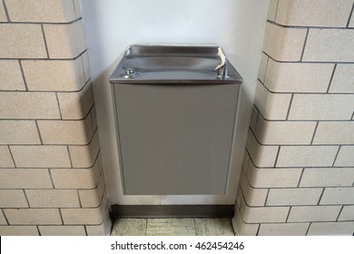 Typical water fountain found in schools and public buildings