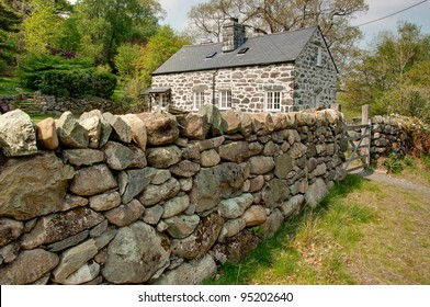 Typical welsh stone house in Snowdonia, North Wales