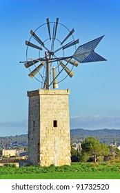 Typical windmill in the island of Majorca (Spain)