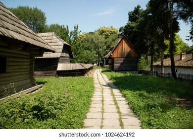 typical wooden house of romania