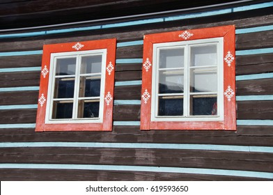 Typical wooden houses in Zdiar village in Tatra Mountains, Slovakia