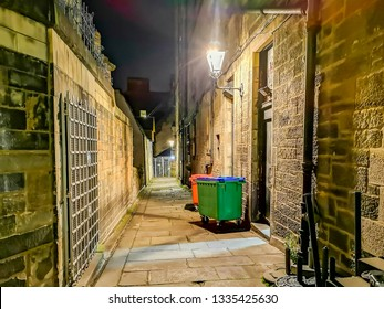 Typical wynd in the old town of Edinburgh in Scotland.