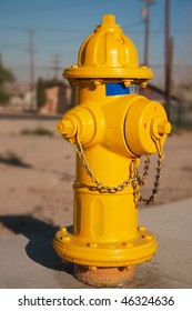 Typical yellow American Fire Hydrant