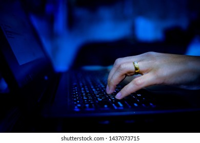 typing keyboard, working with laptop, business man,