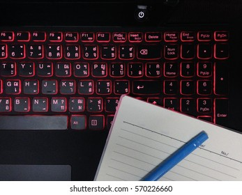 Typing notebook
