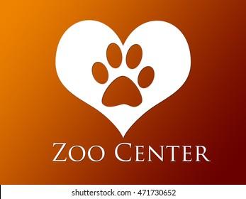 Typographic background- zoo center