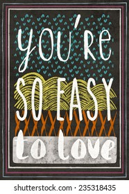 Typography poster with love quote