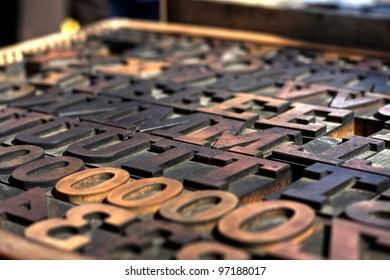 Typography Wood Block Stamps