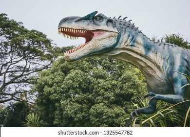 Tyrannosaurus - prehistoric era dinosaur. Adventure park.