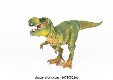 Tyrannosaurus Rex on white background isolated