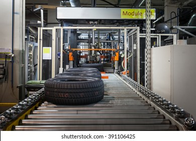 tyre production machine conveyor