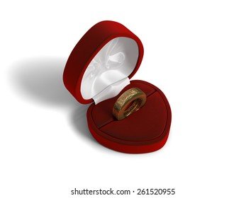 Tyre wedding ring. High quality photo realistic 3D render