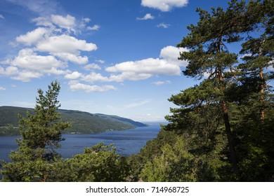 Tyrifjorden seen from County Road 285 (Buskerud, Norway)