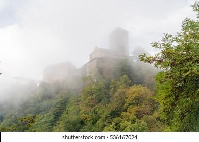 Tyrol Castle (Schloss Tirol/Castel Tirolo) in Dorf Tirol near Merano, in the Burggrafenamt district of South Tyrol, Italy