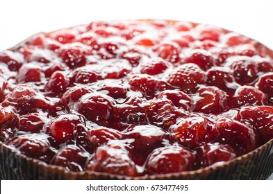 Tyrolean pie with strawberries
