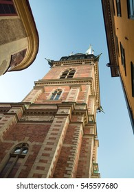Tyska kyrkan (German church) tower in Stockholm, Sweden