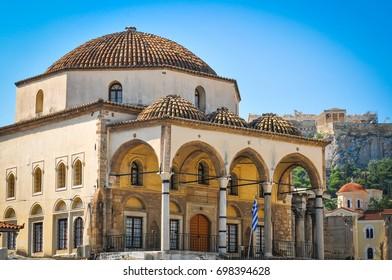 Tzistarakis Mosque in Monastiraki Square, Athens, Greece
