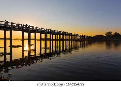 U Bein Bridge Images, Stock Photos & Vectors | Shutterstock