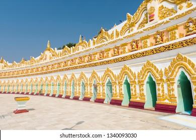 U Min Thonze Sel Pagoda located on Sagaing Hill. Mandalay Region, Myanmar