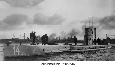 U-14 Austro-Hungarian submarine saw action in WW1. Launched in 1912 as the French Brumaire-class submarine. During the war she was captured and rebuilt for service by the Austro-Hungarian Navy.