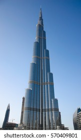 UAE, DUBAI - DECEMBER 20, 2016: Burj Khalifa - is a skyscraper with the height of 828 meters, the tallest building in the world.