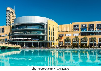 UAE, DUBAI - JANUARY 02: Dubai shopping mall exterior on January 02, 2015 in Dubai, United Arab Emirates