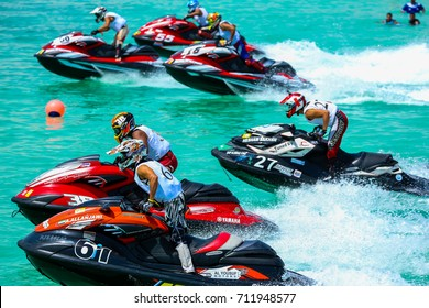 UAE Jet ski Race Heat 3 in April 17, 2015 in Abu Dhabi, UAE