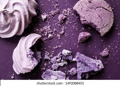 Ube Flavor Desserts on Purple Background