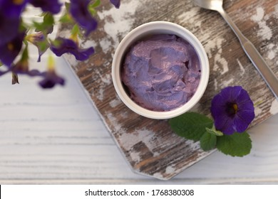 Ube Halaya purple jam, Filipino sweet and sour breakfast cheesy spread recipe