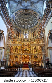 Ubeda, Spain - Mar 25, 2013: Inside the Chapel of the Divine Savior in Ubeda. Renaissance city in the province of Jaén. World heritage site by Unesco. Andalusia, Spain
