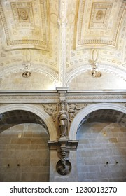 Ubeda, Spain - Mar 25, 2013: Inside the Sacristy at the Chapel of Divine Savior (Divino Salvador) in Ubeda. Renaissance city in the province of Jaén. World heritage site by Unesco. Andalusia, Spain