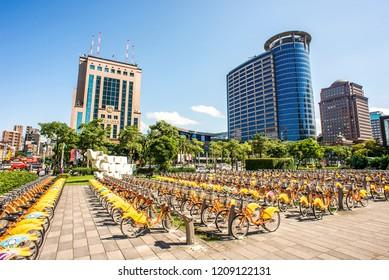 UBIKE Service center -MRT Taipei City Hall Sta.2018/10/21 Taipei, Taiwan