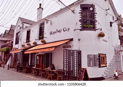 Ubiquitous chip, popular artisan restaurant and pub in Ashton lane, Glasgow. WestEnd, Scotland UK. jUNE 2018