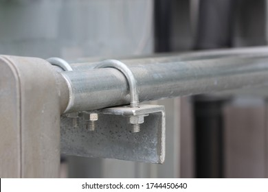 U-BOLT clamp ,IMC conduit installation at support for Electrical system