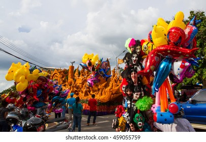 UBON RACHATANEE,THAILAND-JULY 19 : Various toys available for sale in Candle festival at Ubon Rachatanee on July 19,2016.Toys will available for sale in every festival .