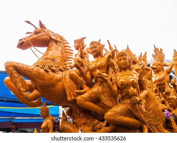 Ubon Ratchathani Candle Festival in The Buddhist Lent Day(Holiday) ,Thailand