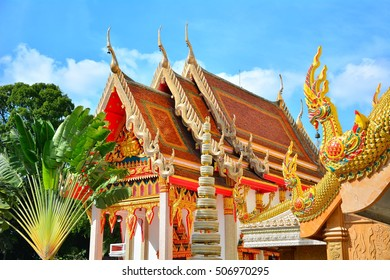UBON RATCHATHANI, THAILAND - 30 OCTOBER 2016 : Wat Mahawanaram, one of the famous temple in Ubon Ratchathani where the Buddha statue, Phrachaoyai InnPlang is located.