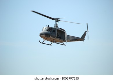 Ubon Ratchathani, Thailand - January 13, 2018: Airman brings Helicopter flight on Children's National Day at Ubon Ratchathani, Thailand.