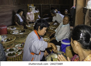 Ubonratchathani,THAILAND Jan 10 :Religious ceremonies and ordination of men to a monk of Thailand Isaan.Thailand on Jan 10, 2015