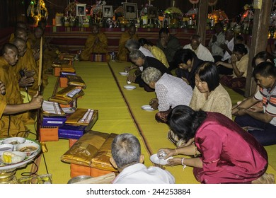 Ubonratchathani,THAILAND Jan 11 :Religious ceremonies and ordination of men to a monk of Thailand Isaan.Thailand on Jan 11, 2015