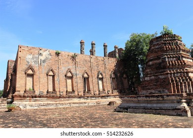 Ubosot ,Ordination hall ,Wat Khudeedao ,ancient architecture  , Buddhist sculpture ,Thai temple architecture ,Ayutthaya Historical Park,Thailand , world heritage.